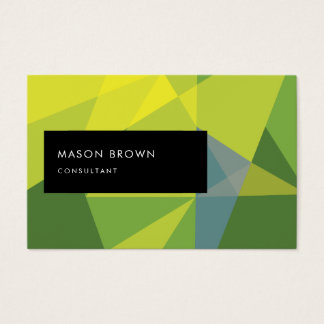 Forest Inspiration Elegant Geometric Pattern Business Card