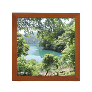 Forest lake forest and lake desk organizer
