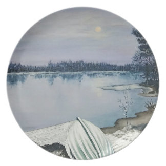 Forest lake plate