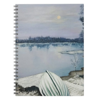 Forest lake spiral note book