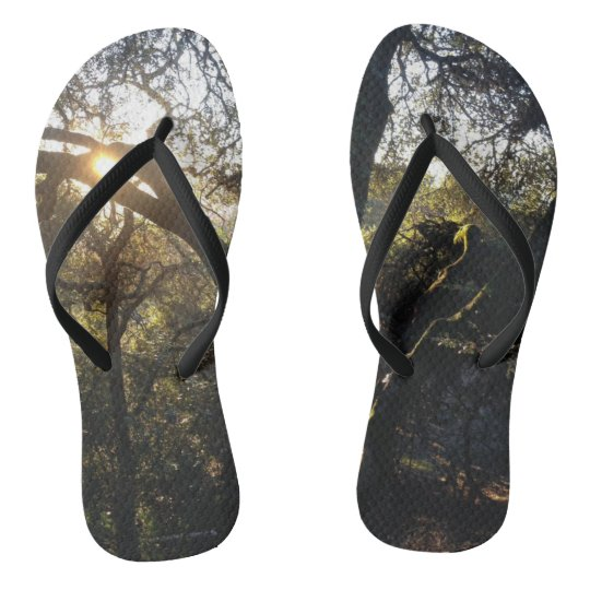 Forest Light Flip Flops