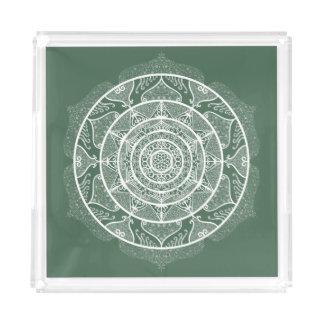 Forest Mandala Acrylic Tray
