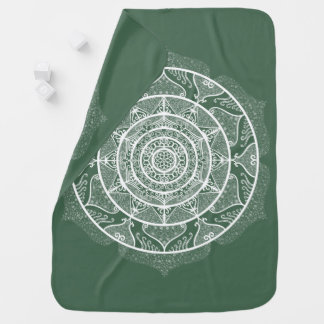 Forest Mandala Baby Blanket