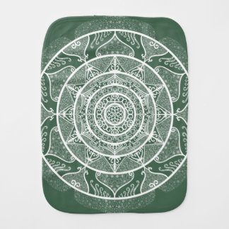 Forest Mandala Burp Cloth