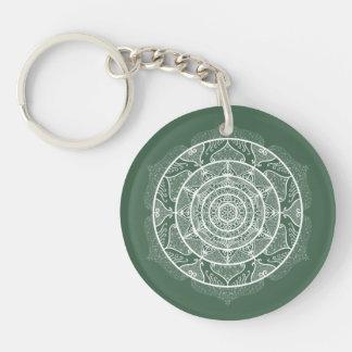 Forest Mandala Keychain