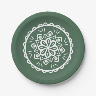 Forest Mandala Paper Plate