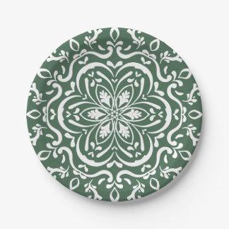 Forest Mandala Paper Plate