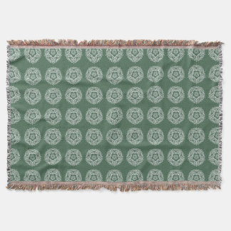 Forest Mandala Throw Blanket