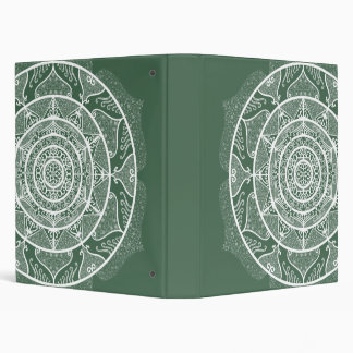 Forest Mandala Vinyl Binder