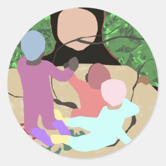 Forest Miro Classic Round Sticker