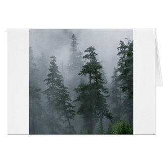 Forest Mist Clearing Storm Mount Hood Card