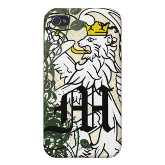 Forest Monogram Retro Grunge Lion Rampant iPhone iPhone 4/4S Covers