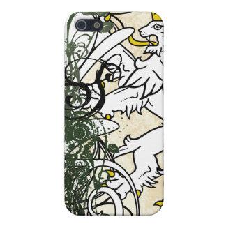 Forest Monogram Retro Grunge Lion Rampant iPhone iPhone 5/5S Case
