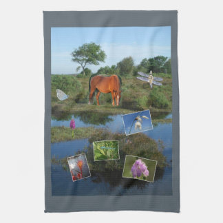 Forest montage teatowel hand towel