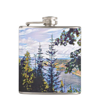 Forest Mosaic Flask