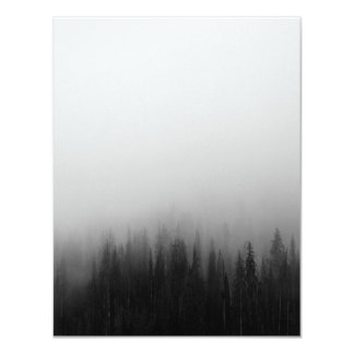 Forest Nature Landscape Scene Foggy Mystical Card