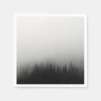 Forest Nature Landscape Scene Foggy Mystical Disposable Napkin