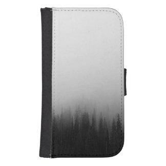 Forest Nature Landscape Scene Foggy Mystical Samsung S4 Wallet Case