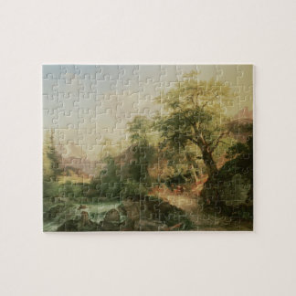 Forest near Vienna, 1852 (oil on canvas) Puzzle