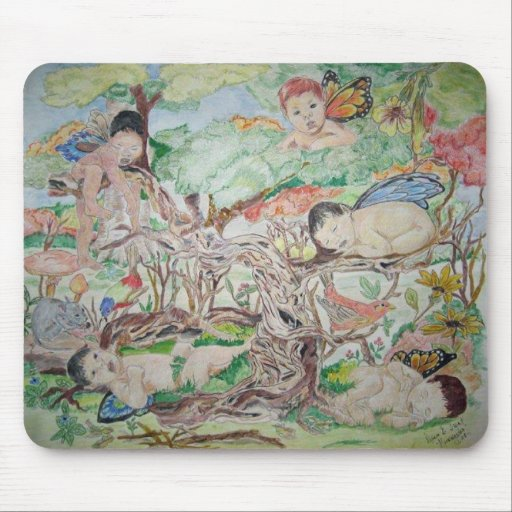 Forest Nursery Mouse Pad