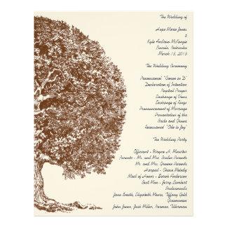 Forest Oak Tree Wedding Program