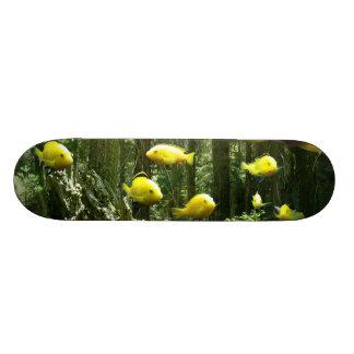 Forest of Fish Aquarium Skateboard deck board art