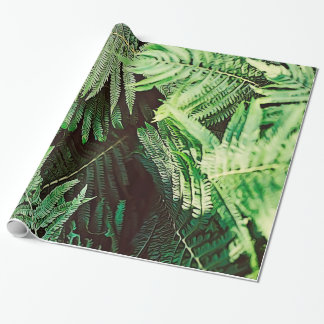 Forest of Green Ferns Wrapping Paper