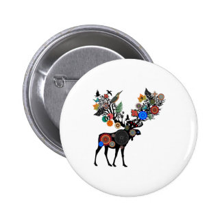 FOREST OF LIFE 2 INCH ROUND BUTTON