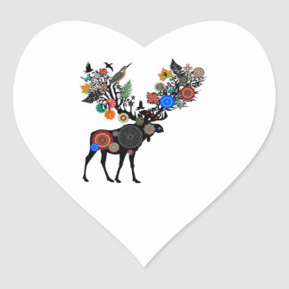 FOREST OF LIFE HEART STICKER