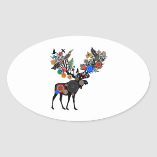 FOREST OF LIFE OVAL STICKER