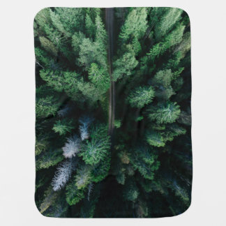 Forest of trees colorful green baby kids blanket swaddle blanket