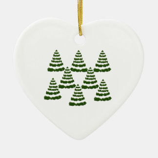 FOREST OF WONDERS CERAMIC HEART ORNAMENT