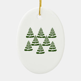 FOREST OF WONDERS CERAMIC OVAL ORNAMENT