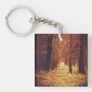 Forest Path ... Double-Sided Square Acrylic Keychain