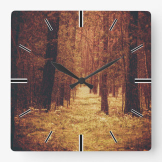 Forest Path... Square Wall Clock