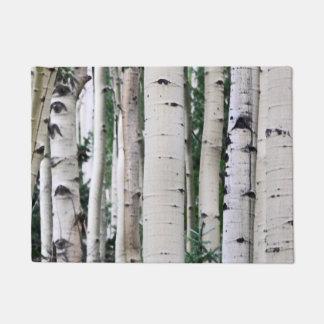 Forest Pattern - Aspen Trees Doormat