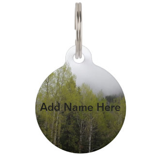 Forest Pet Name Tag