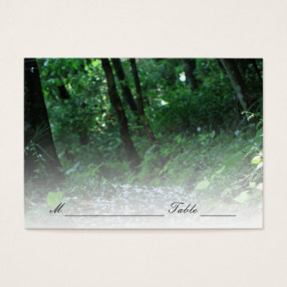 Forest Petal Path Wedding Place/Seating Card