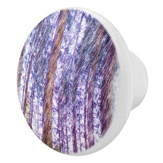 Forest photo paint ceramic knob