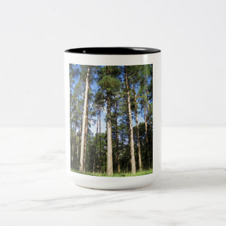 Forest Pines Two-Tone Coffee Mug