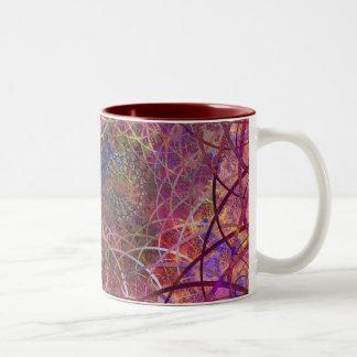 forest plastic Two-Tone coffee mug