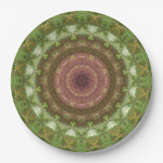 Forest Portal Mandala 9 Inch Paper Plate