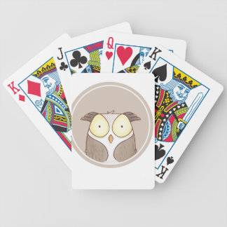 Forest portrait owl bicycle playing cards