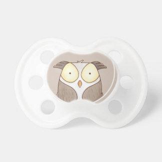 Forest portrait owl pacifier