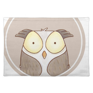 Forest portrait owl placemat
