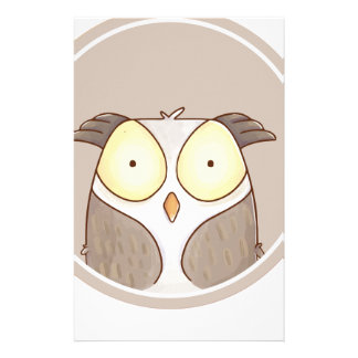 Forest portrait owl stationery