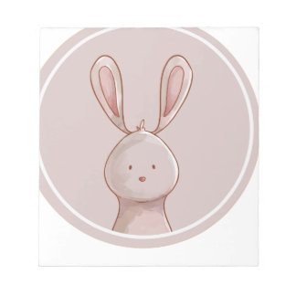 Forest portrait rabbit notepad