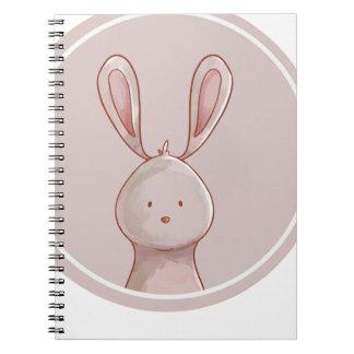 Forest portrait rabbit spiral notebook