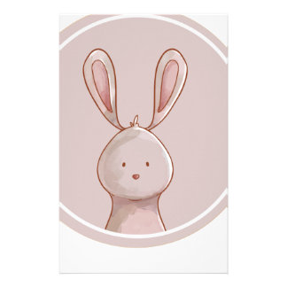 Forest portrait rabbit stationery
