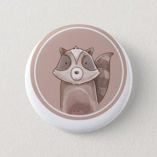 Forest portrait raccoon 2 inch round button